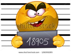 stock-vector-arrested-emoticon-with-measuring-scale-in-back-holding-his-number-posing-for-a-criminal-mug-shot-126095285
